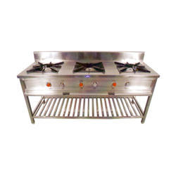 Lpg Or Png Not Requried Three Burner Gas Stove, For Hotel, Number Of Knob: 6