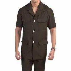 2-piece Suit Brown Mens Security Guard Safari Suit