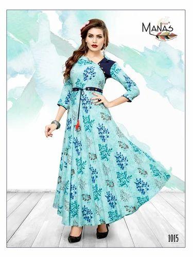 327bdc0c9b Semi-Stitched Casual Wear Kurtis, Rs 599 /piece, Krina Fashion | ID ...