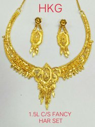 Party Wear Traditional NECKLACE, Gold