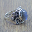 WHOLESALE 925 STERLING SILVER JEWELRY LABRADORITE GEMSTONE RING WR-5206