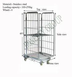 2 Tier Cage Trolley