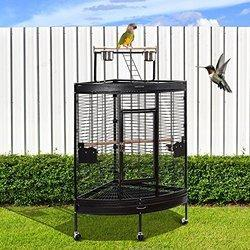 Corner Parrot Stand