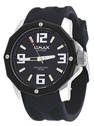 OMAX Black Dial Analogue Watch For Men (SS351)