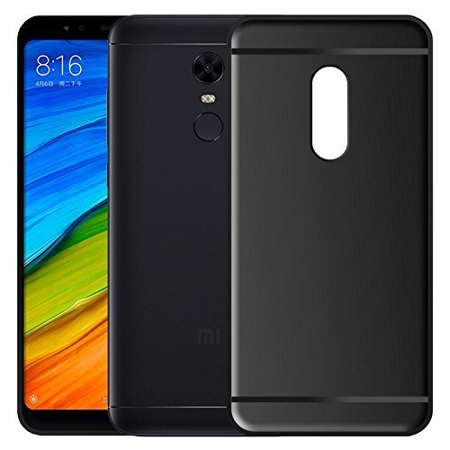 pretty nice 8d1a4 d7e22 For Xiaomi Redmi Note 5 Back Cover Black Candy Soft Case