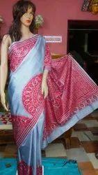 Silk Kantha Stich Sarees