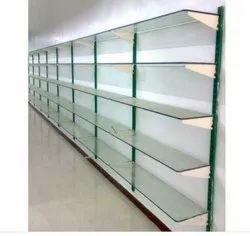 Glass Garment Storage Rack