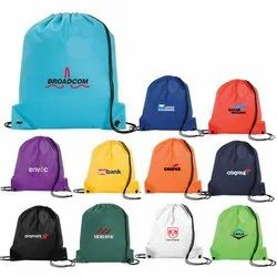 Drawstring Bag For Corporate Gift, Nylon Or Polyester, Capacity: 16 Liters