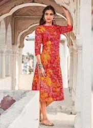 Designer Printed Angrakha Kurti