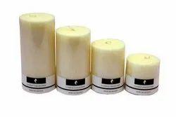 Vanilla Scented Pillar Candle Set
