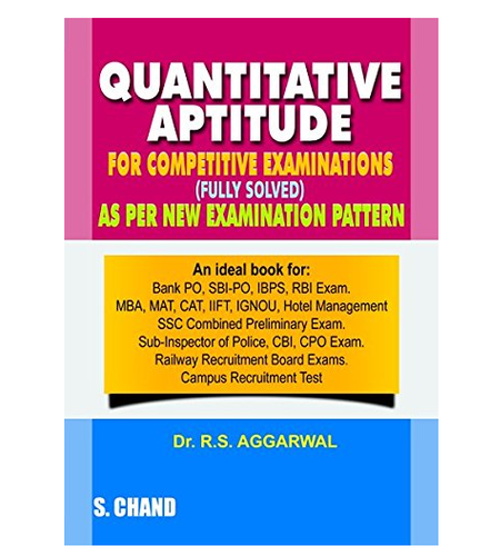 Quantitative Aptitude For Competitive Examinations Book