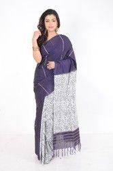 Purple Khesh Cotton Saree