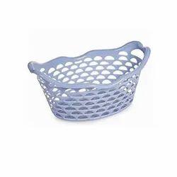 Grey Nakoda Amisha Plastic Fruit Basket, Size: 360 x 256 x 155 Inch