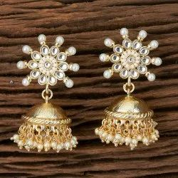 Indo Western Jhumkis with Gold Plating 101161