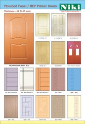 Moulded Panel doors or Skin doors, Texture, Shape: Square