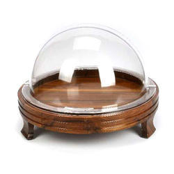 Wooden Round Tray With Rolltop Cover