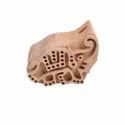Elephant Pattern Textile Printing Block
