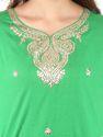 Gota Patti Green Kurta In Silk Cotton