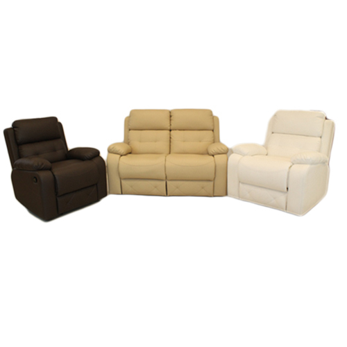 Leatherette Brown And White Recliner Sofa Set Rs 100000 Set Id