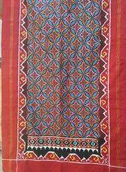 Double Iket Silk dupatta, Hand Made