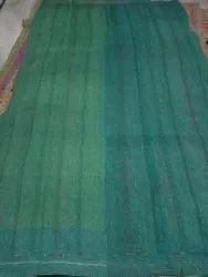 Green Plain Vintage Kantha Quilt