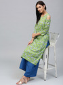 Printed Kurta With Palazzo Set