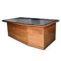 Glass Top Wooden Office Table