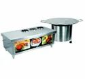 Stainless Steel Tikki Display Counter, For Hotel, Restaurant