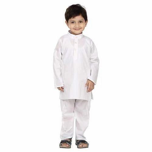43ef12f94f35 Boy Kids White Kurta Pajama