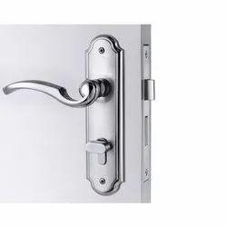 Godrej Stainless Steel Mortise Door Lock, Chrome