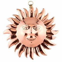 Cast Metal Sun Ornament