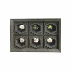 Hollow Blocks Gray Cement Ventilator Block, Size: 12X12X4 Inch
