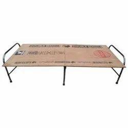 Black Plywood Folding Bed, Size: 6x3 Ft