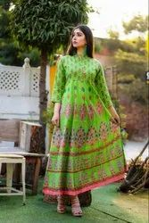 Women Anarkali Printed long Kurtis