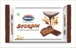 Cremica - Bourbon (Chocolate Flavoured Sandwich ) Biscuit, Packaging Size: 100 Per Box
