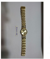 Ladies Leather Watches With Golden Chain