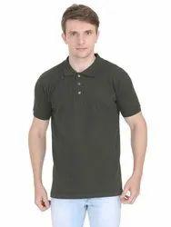 Mens Plain Collar Neck T Shirts