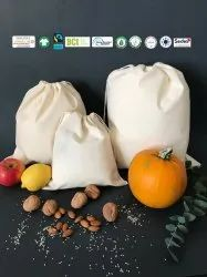 Natural Recycle Organic Cotton Nuts Bag
