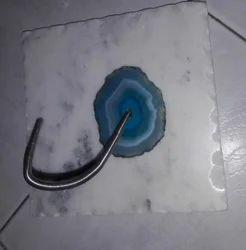 Marble White Agate Tissue Holder