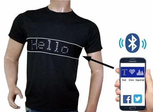 Cotton LED Mobile T Shirt, Size: Large