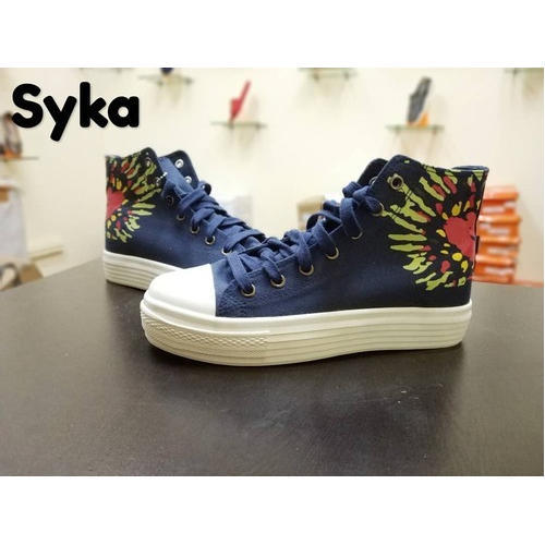 Men's Printed Canvas Casual Shoes, Size