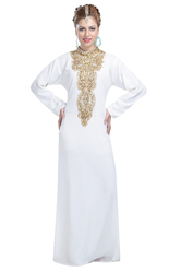 Crystal Luxe Kaftan Tea Party Dress