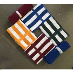 Cotton Striped Pool Terry Towel