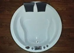 White Hydro Plus Industries Acrylic Bathtub