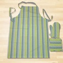 Woven Stripes Kitchen Apron Set