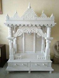 白色雕刻大理石寺庙,为家