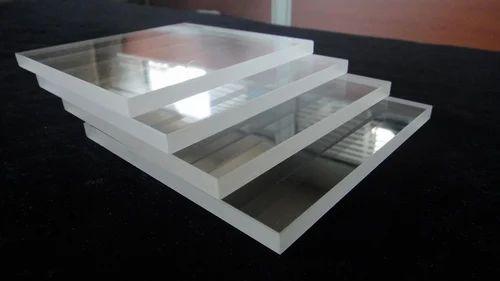 Transperant Techinstro Quartz Glass Plate, Size: 25mm X 25mm X 1mm
