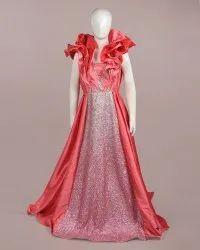 Raashi Pink Satin Kids Gown