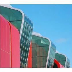 Transparent Bend Roof Glass
