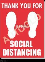 Corona Virus Signage: Social Distancing Feet Symbol